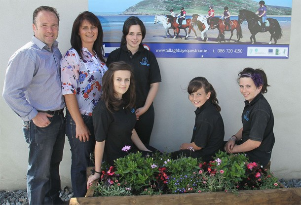 The Devlin Family who run Tullagh Bay Equestrian Centre